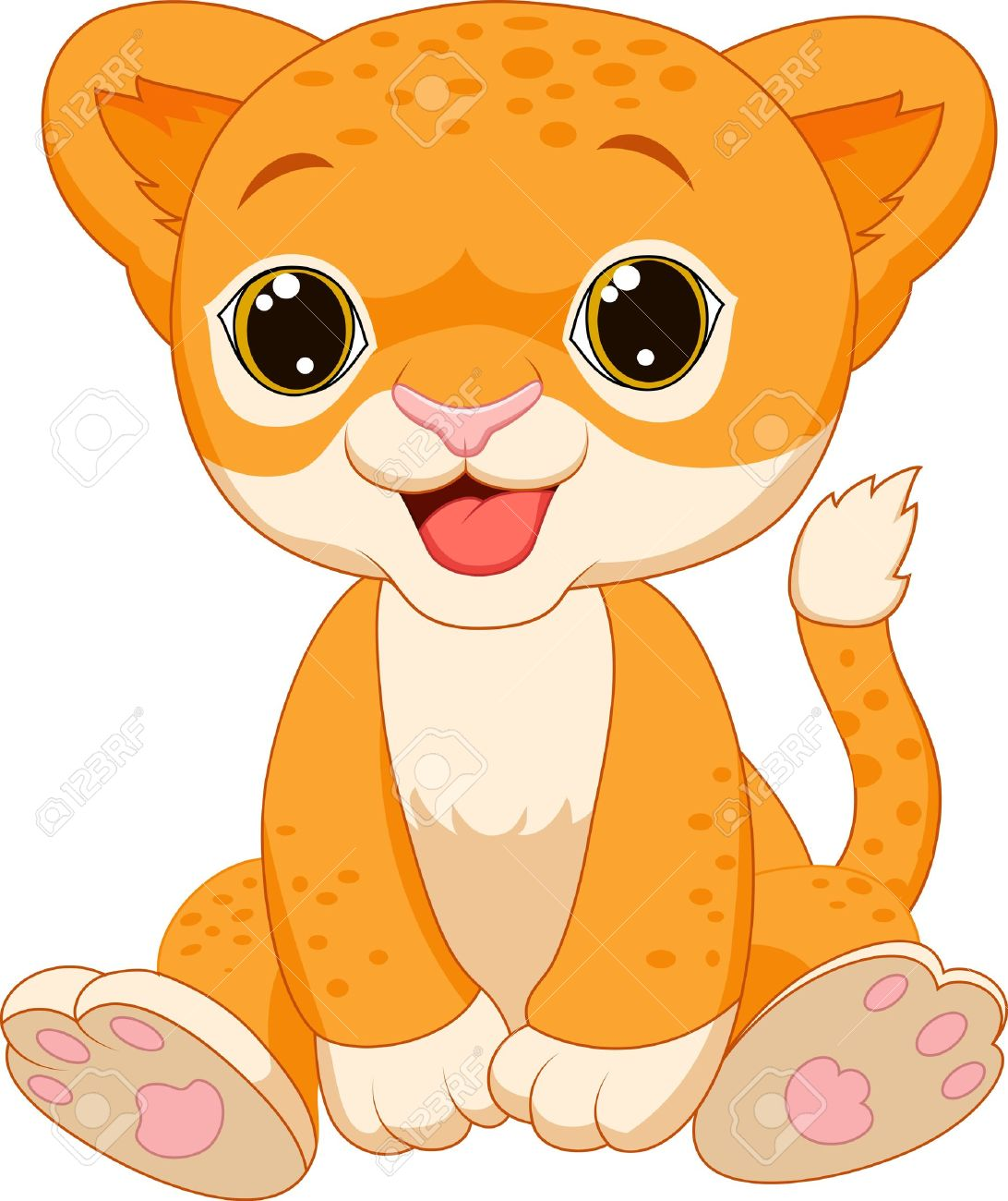cute baby lion clipart - Clipground for Clipart Leopard Cute  lp00lyp