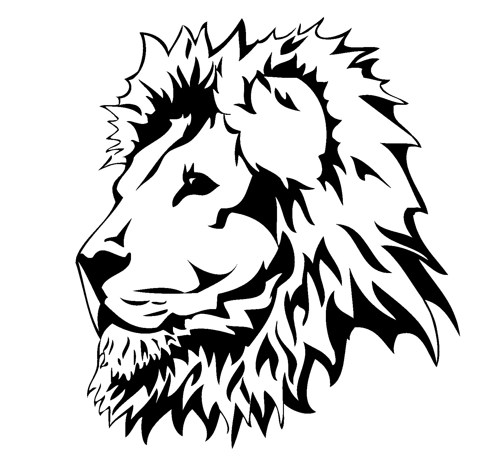 Lion head clipart black and white 7 » Clipart Portal.