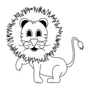 Black And White Lion Clip Art.