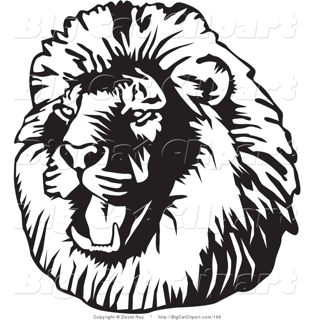 Lion Head Clipart For Kids.