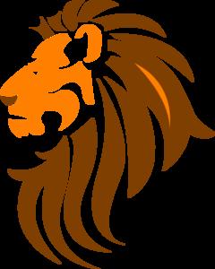 Lion Head Color Clip Art.