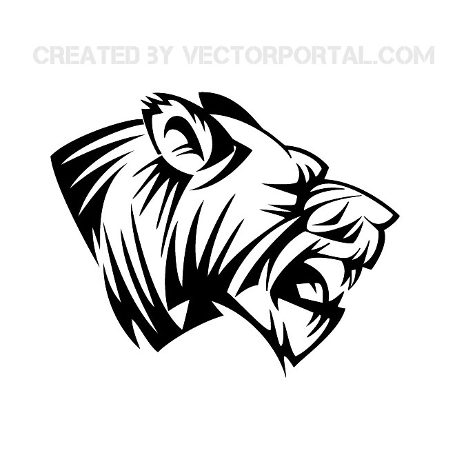 Lion head vector clip art 2.