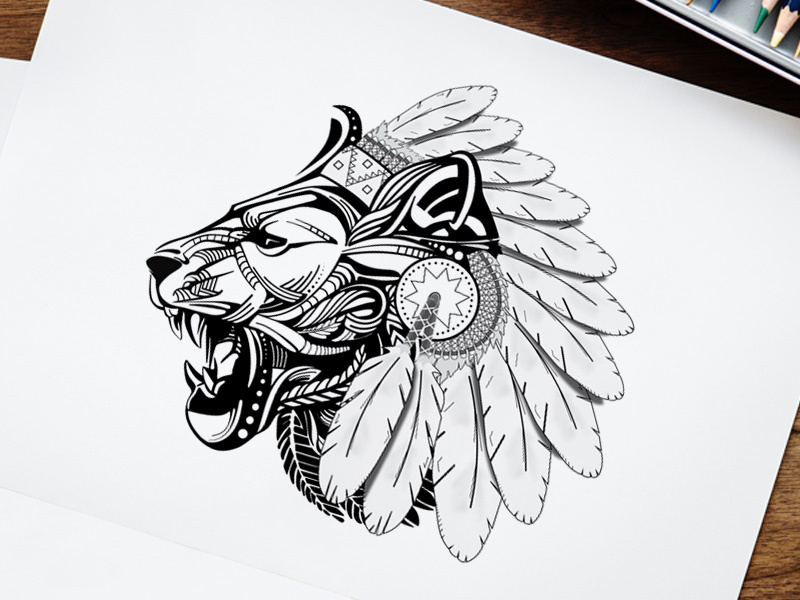 Free Lion Face Vector Clipart by Country4k on Dribbble.