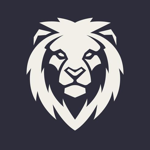 Lion Head Vector Mascot.