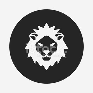 animal lion icon Clipart Image.