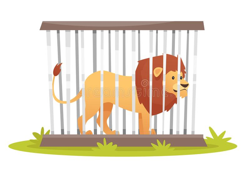 Lion Cage Stock Illustrations.