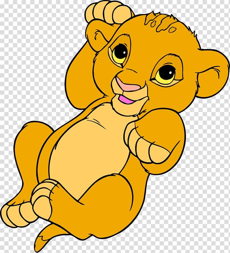 Simba Nala Lion , lion king transparent background PNG.