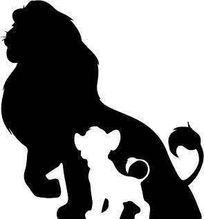 The Lion King Fathers Shawdow Decal Vinyl Sticker.