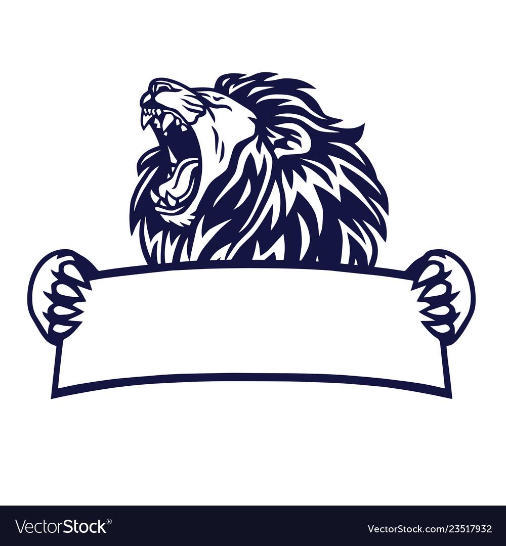 Lion king logo banner emblem.