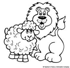 Lion And The Lamb Clipart.