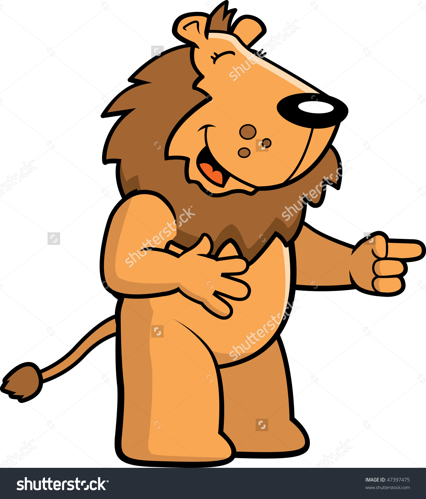 lion laughing clipart #17