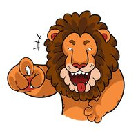 lion laughing clipart #9
