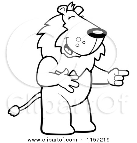 lion laughing clipart #15