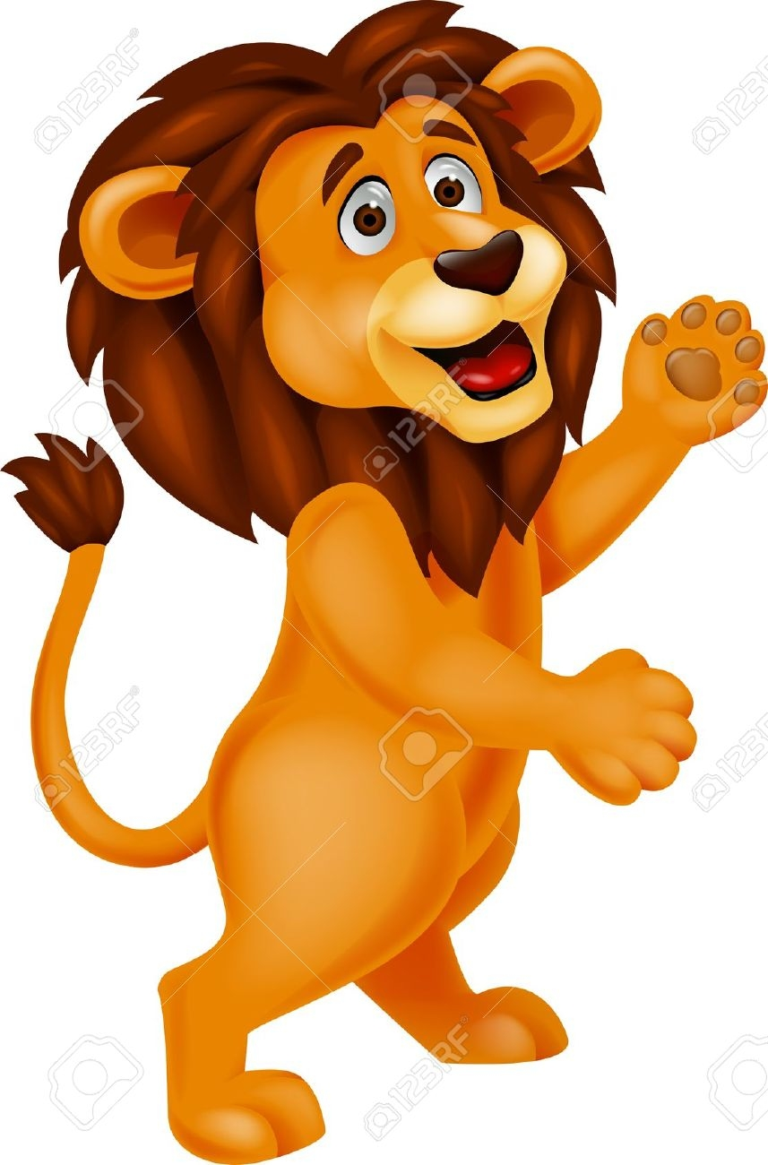 lion laughing clipart #12