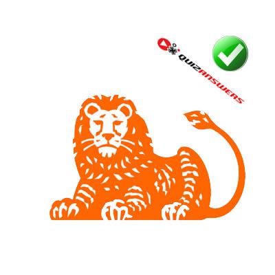 Orange lion Logos.