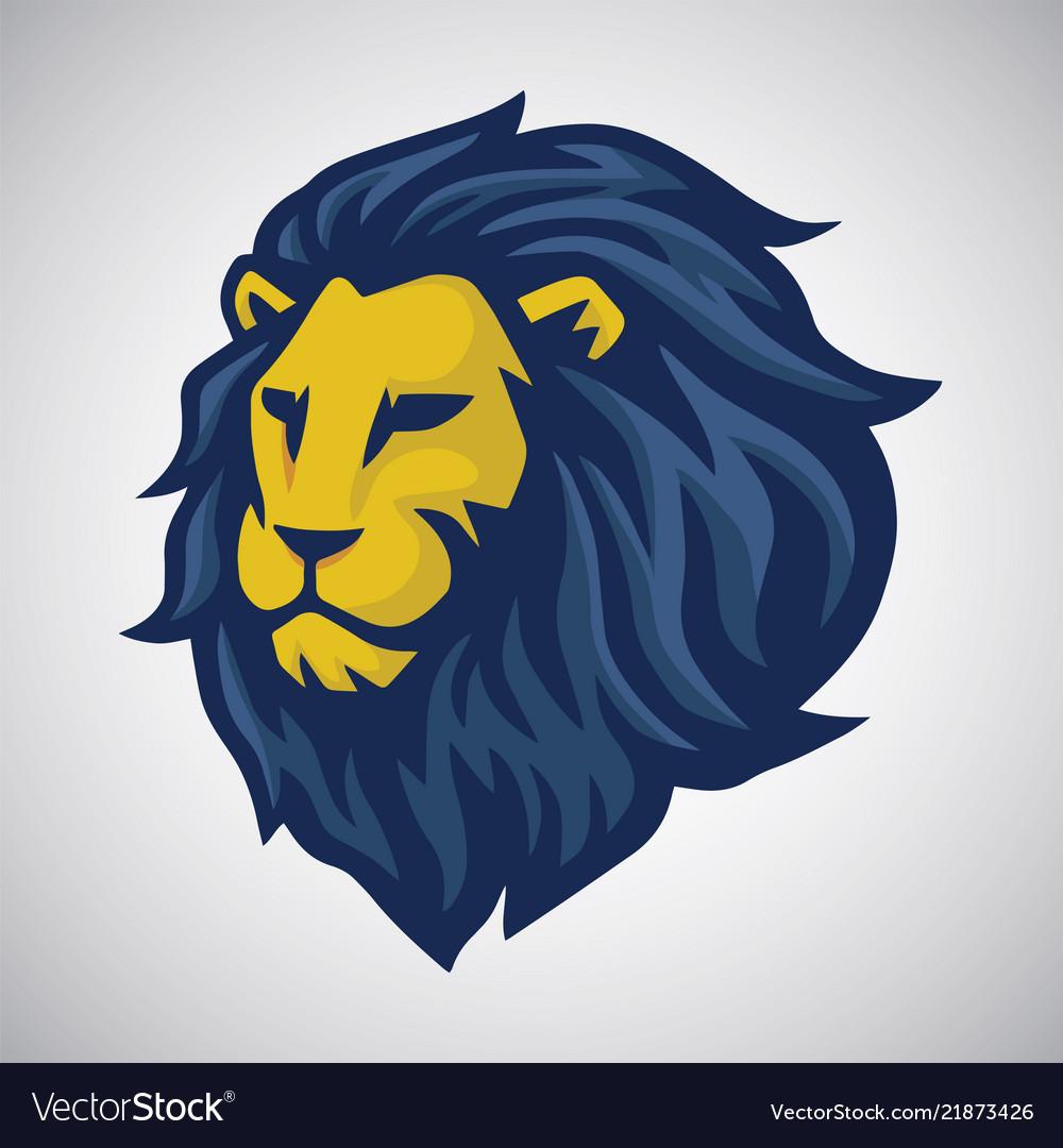 Lion mascot logo.