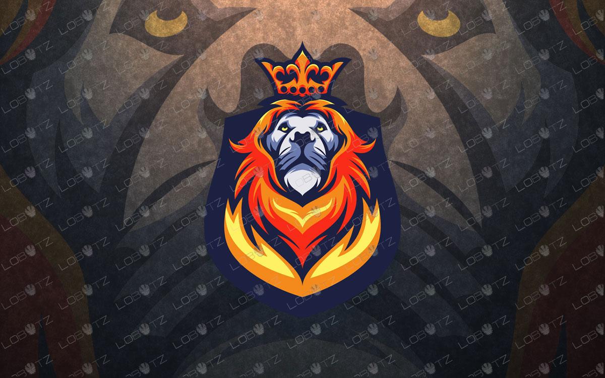 Breathtaking King Lion Mascot Logo.