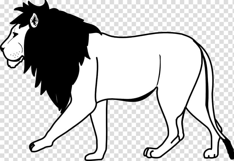 Lionhead rabbit Black and white White lion , Lion Outline.