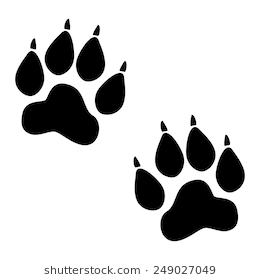 Lion Paw Print Vector Icon. Animal Track #73946.