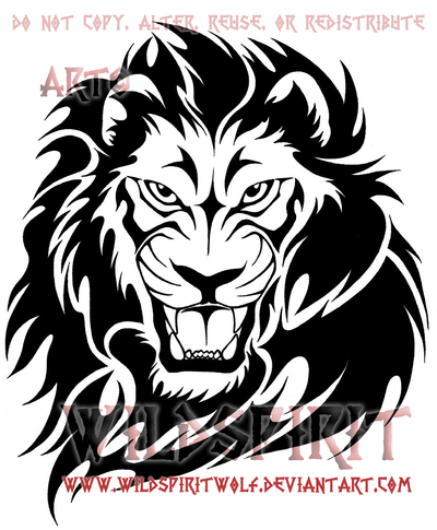 Lion Png Tribal Vector, Clipart, PSD.