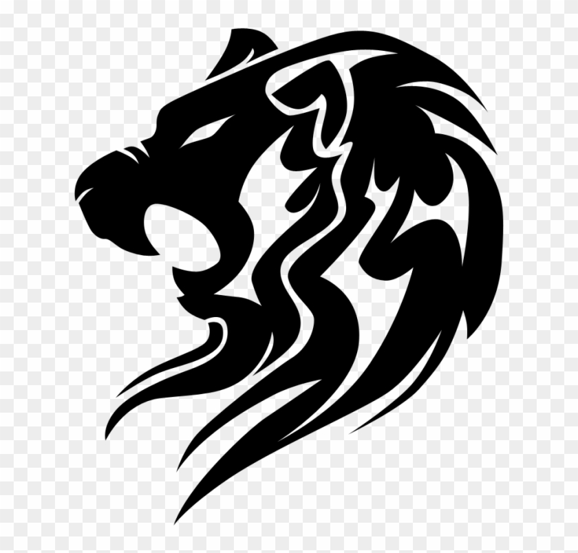 Tribal Lion Drawing, HD Png Download.