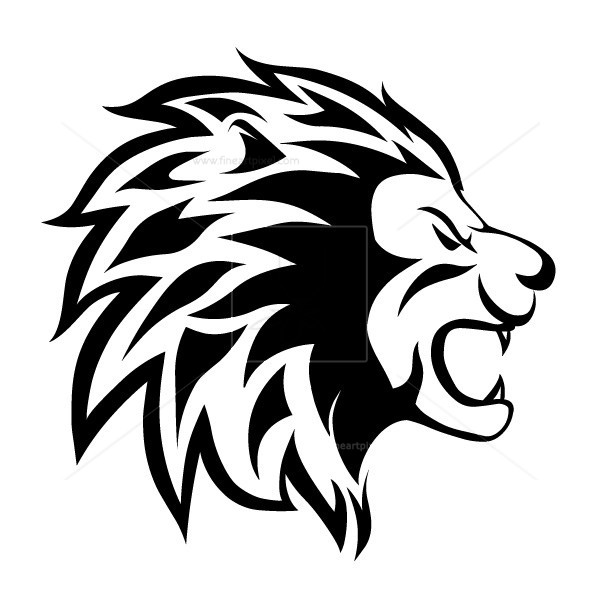 Head of Lion Vector.