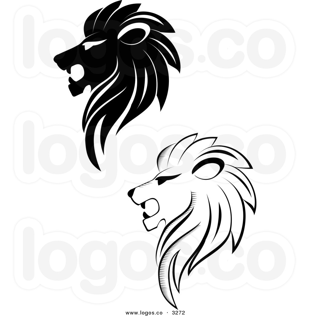 Lion Profile Clipart.