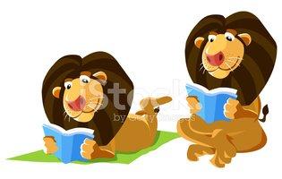 Lion Reading A Book stock vectors.