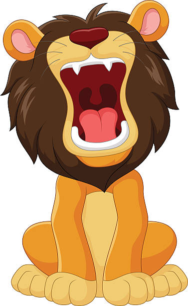 Best Lion Roar Illustrations, Royalty.