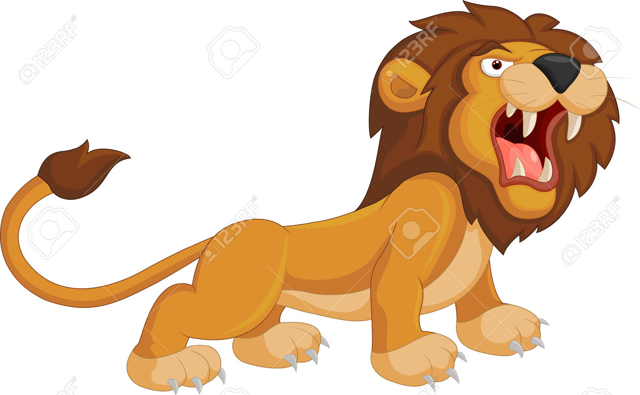 Cartoon Lion Roaring Royalty Free Cliparts, Vectors, And Stock.