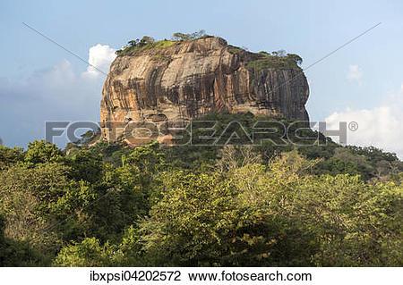 Stock Photo of Sigiriya or Lion Rock, Sri Lanka, Asia.