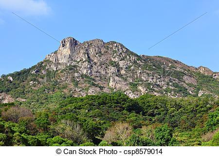 Stock Photo of Lion Rock, symbol of Hong Kong spirit csp8579014.