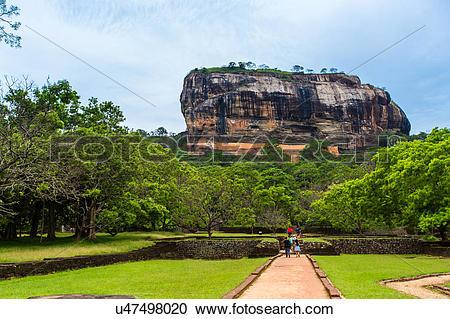 Stock Photography of Sri Lanka, Sigiriya, Lion Rock u47498020.