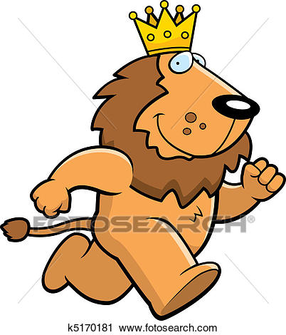 King Lion Running Clipart.