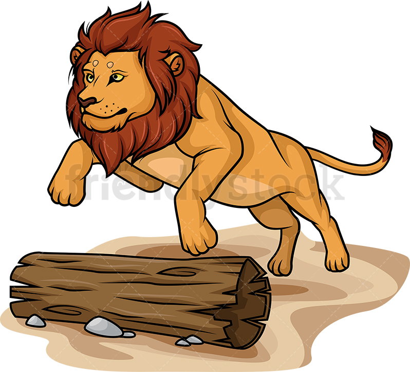Lion Jumping.
