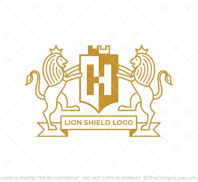 Lion Shield Logo & Business Card.