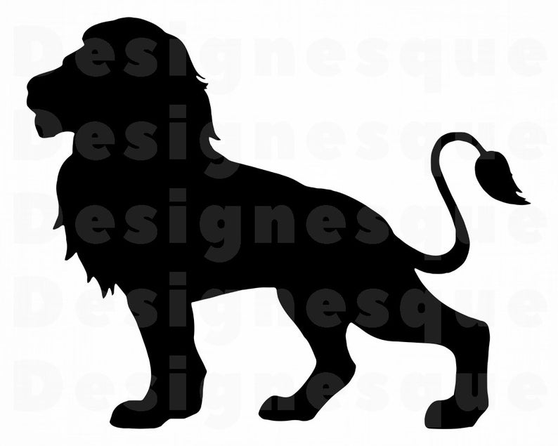 Lion Silhouette #3 SVG, Lion Svg, Lion Clipart, Lion Files for Cricut, Lion  Cut Files For Silhouette, Lion Dxf, Lion Png, Eps, Lion Vector.