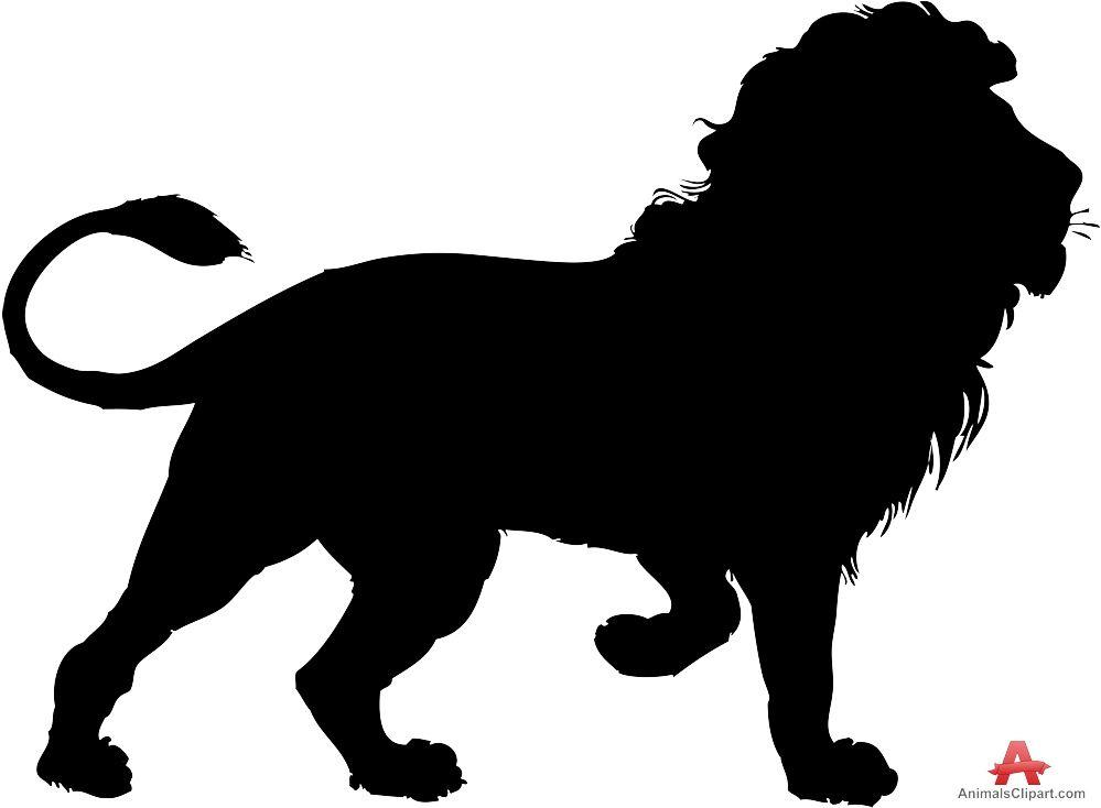 Lion clipart silhouette #6.