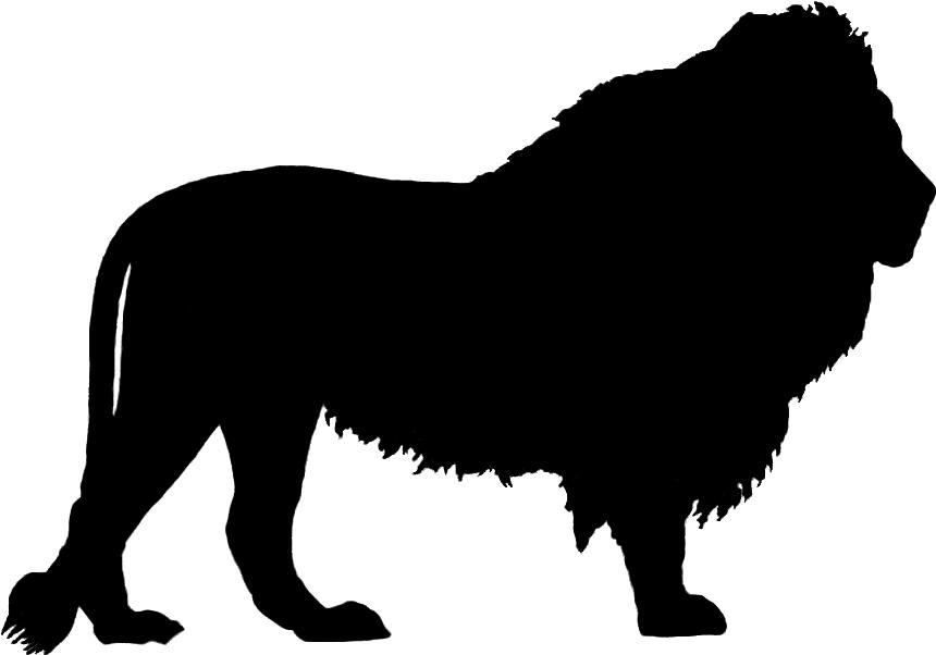 Lion Silhouette Clip art.