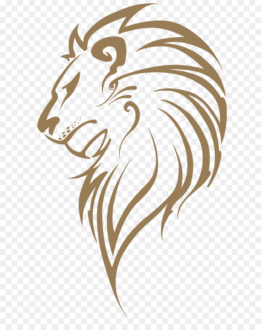 Lion Drawing png download.