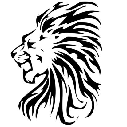 Free Lion Black And White Tattoo, Download Free Clip Art.