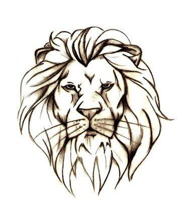 Nice Lion Head Tattoo Stencil.