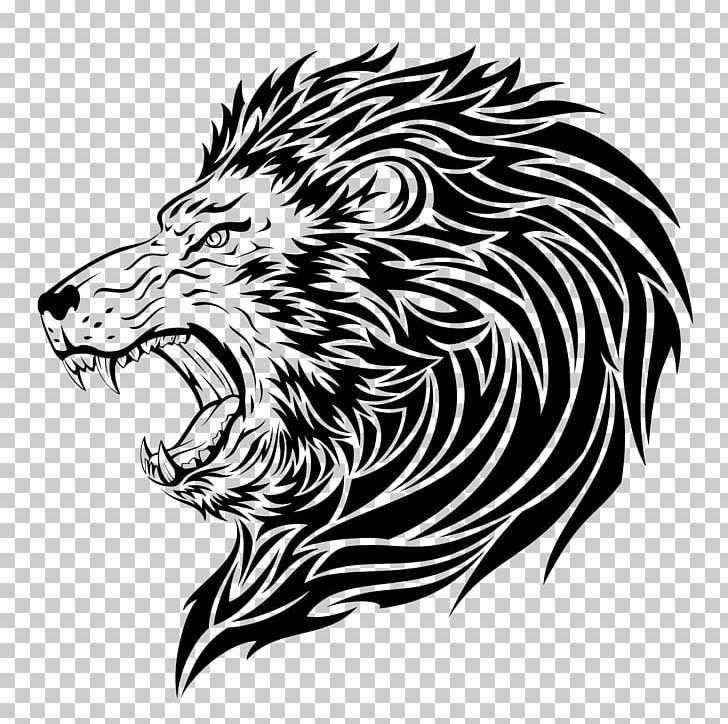 Lion Tattoo Artist Roar PNG, Clipart, Animals, Art, Big Cats.