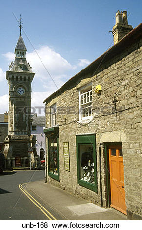 Pictures of Clock Tower Lion Street Hay on Wye Wales UK unb.