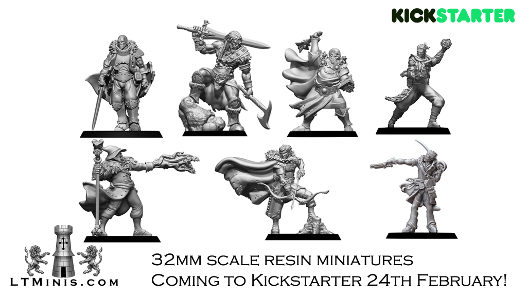 Lion Tower Miniatures Look Towards A Heroic Kickstarter.