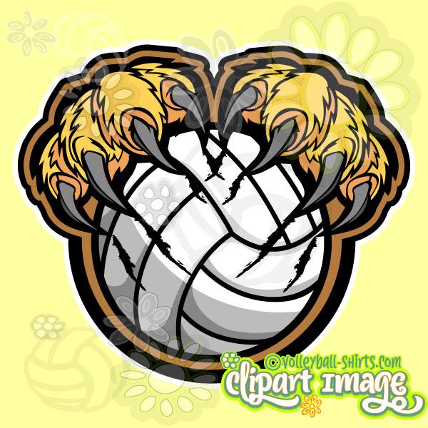 Lion Volleyball Clip Art.