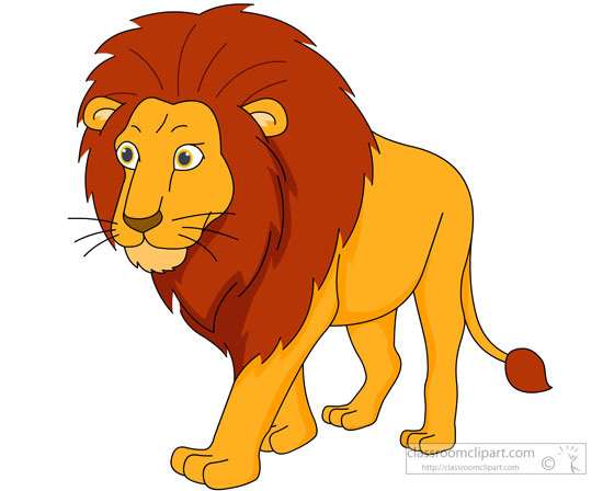 Large male lion walking clipart » Clipart Station.