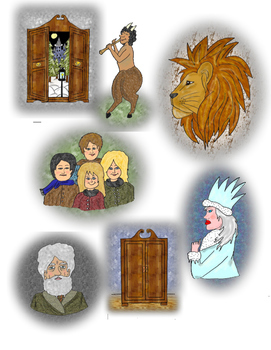 The Lion, the Witch, and the Wardrobe Clip Art.