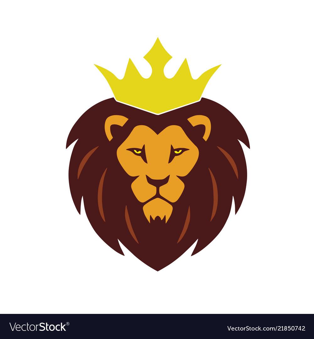 Lion king crown logo.