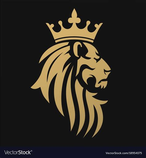 Lion with crown Logos.
